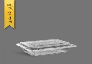 ظروف یکبار مصرف شیشه ای درب دار
